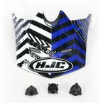 Blue/Black/White Visor for HJC CL-XY Wanted Youth Helmet - 274-929