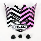Pink/Black/White Visor for HJC CL-XY Wanted Youth Helmet - 274-989