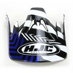 Black/Blue/White Visor for HJC CS-MX Charge Helmet - 310-929
