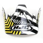 Black/Yellow/White Visor for HJC CS-MX Charge Helmet - 310-939