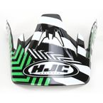 Black/Green/White Visor for HJC CS-MX Charge Helmet - 310-949