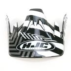 Black/Silver/White Visor for HJC CS-MX Charge Helmet - 310-959