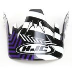 Black/Purple/White Visor for HJC CS-MX Charge Helmet - 310-999