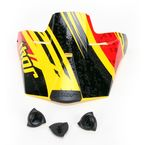 Youth Yellow/Red Quadrant Splatter Visor Kit - 0132-0704