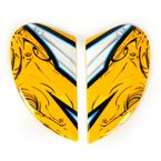 Yellow Sideplates for Airmada Sportbike SB1 Helmets - 0133-0683