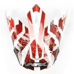 Youth Multi Red FX17 Visor - 0132-0720