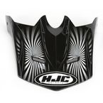 Youth CL-XY Black/Silver/White Whirl MC-5 Replacement Visor - 276-959
