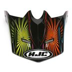 Youth CL-XY Black/Pink/Yellow Whirl MC-28 Replacement Visor - 276-989