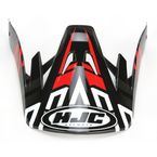 Black/Red/Silver CS-MX Link MC-1 Replacement Visor - 314-919