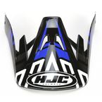 Black/Blue/Silver CS-MX Link MC-2 Replacement Visor - 314-929