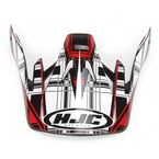 Black/Red/White CS-MX Stagger Helmet Visor - 312-919