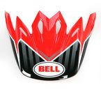 Red/Black/White Pinned Visor - 8005609