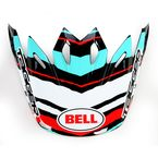 Teal/Black/White/Red Moto-9 Tagger Scrub Carbon Visor - 8005612