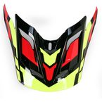 Red/Black/Yellow MX-2 Quantum Visor  - 8005617