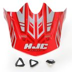 Red/Silver MC-1 CL-X6 Fulcrum Helmet Visor - 738-919