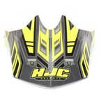 Hi-Vis Yellow/Charcoal MC-3H CL-X6 Fulcrum Helmet Visor - 738-939