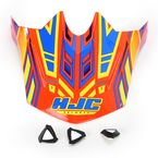 Orange/Blue/Yellow MC-6 CL-X6 Fulcrum Helmet Visor - 738-969