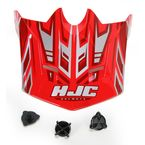 Youth Red/Silver MC-1 CL-XY Fulcrum Helmet Visor - 278-919