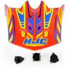 Youth Orange/Blue/Yellow MC-6 CL-XY Fulcrum Helmet Visor - 278-969