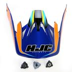 Orange/Yellow/Blue MC-23 CS-MX Shattered Helmet Visor - 316-939