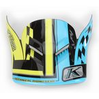 Blue/Yellow/Black F4 Legacy Voltage Helmet Visor - 5106-205-907-301