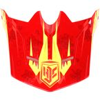Youth Red/Orange/Yellow MC-1 Visor - 0963-6020-01
