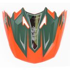 Orange/Green MC-6F Visor for CL-X7  Dynasty Helmets - 0964-6012-36