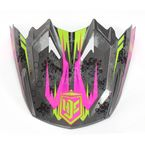 Black/Hi-Viz Neon Green/Pink MC-8 Visor - 0964-6020-08