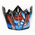 Black/Blue/Red VFX-W Grant 2 TC-1 Helmet Visor - 0245-6088-01