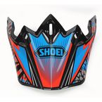 Red/Blue/Black VFX-W Maelstrom TC-1 Helmet Visor - 0245-6085-01