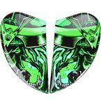 Black/Green Airmada Shadow Warrior Sideplates - 0133-0843