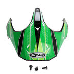 Black/Green/White Visor for GM11S Sport/Nova Helmets - 72-3362