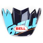 Blue/Black/Red Visor for Moto-9 Carbon Flex Blocked Helmet - 8031060