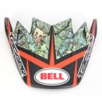 Red/Black/Green Visor for Moto-9 Tagger Rekluse HelmetCarbon Flex Blocked Helmet - 8031063