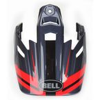 Black/Red Visor for MX-9 Adventure Barricade Helmets - 8031097