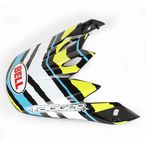 Black/Green/White/Blue Visor for MX-9 Scrub Psycho Helmet - 8031087