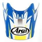 Blue/Yellow/White Visor for VX-Pro 4 Tip Helmet - 81-1073