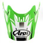 Green/White/Black Visor for VX-Pro 4 Tip Helmet - 81-1074