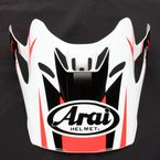 Red/White/Black Visor for VX-Pro 4 Tip Helmet - 81-1098