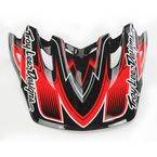 Black/Red Starbreak Visor for Air Helmet - 153009200