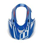 Blue/White Visor for Icon Variant Glory Raiden Helmet - 0132-0923