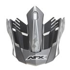 Frost Gray/White FX-17 Factor Visor - 0132-0934