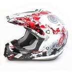 Red Stunt FX-17 Helmet - 0110-2525