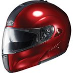IS-Max BT Metallic Wine Modular Helmet - 958-262