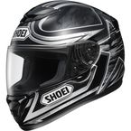 Qwest Ethereal Black/Silver Helmet - 0115-3005-08