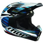 Black/Blue/White Quadrant Frequency Helmet - 0110-2770