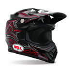 Black Moto-9 Stunt Helmet - Convertible To Snow - 2021882