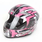 Silver/Pink Passion FX90 Pass Helmet - 0101-5845