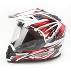 Red Multi FX-39 Dual Sport Helmet - 0110-3166