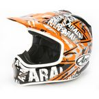 White/Orange/Gray Pride VX-Pro 3 Helmet